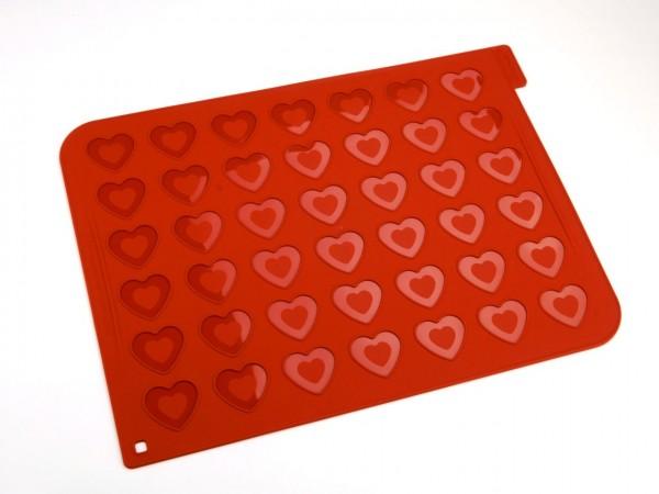 Macaron Backmatte Herz Silikon