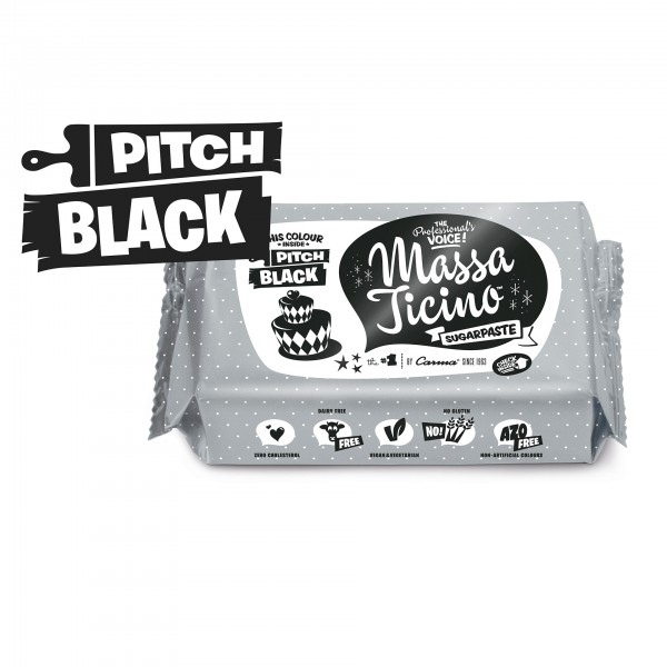 1kg Massa Ticino Tropic - Pitch Black (AZO FREI, VEGAN)