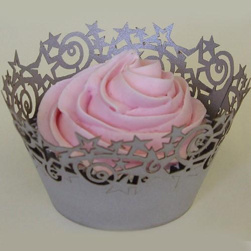 Cupcake Wrapper Silber