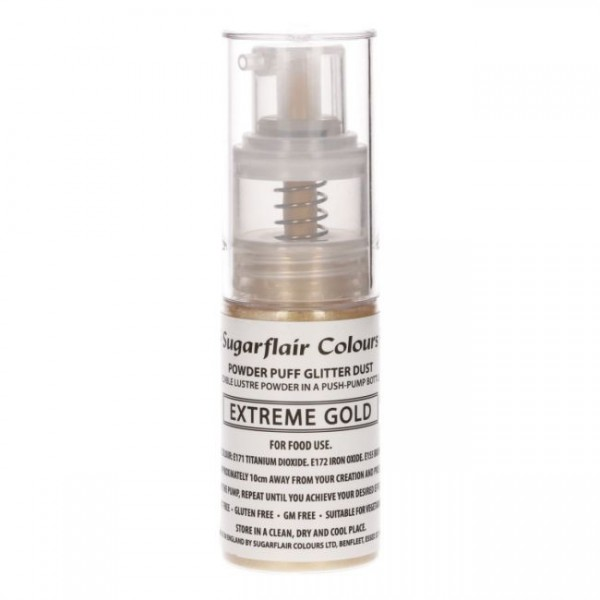 Sugarflair Pump Spray Glitter Dust Extreme Gold