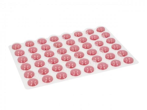 Macaron-Halbschalen 48 Stück rot