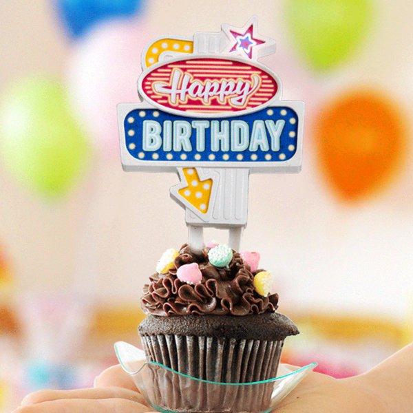 Vorschau Cake Topper Kuchen Happy Birthday