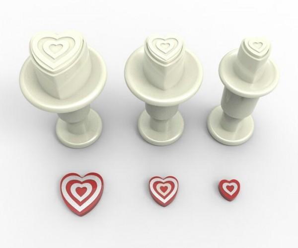 Stempelausstecher mini Herz Muster