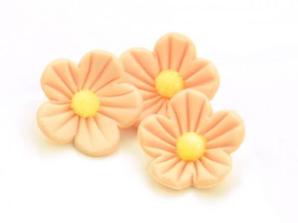 Zuckerdekor Blumen lachs 16Stk 25mm