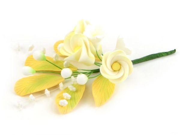 Zuckerblüte Blumenbouquet Frangipani gelb