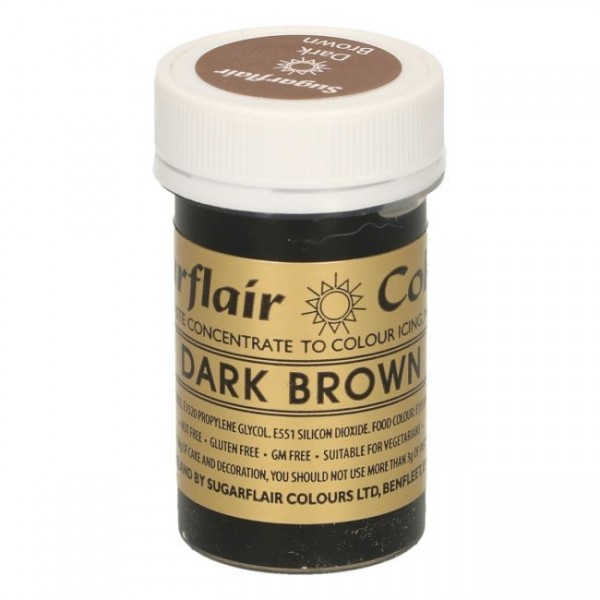 Sugarflair - Pastenfarbe - Dark Brown 25g