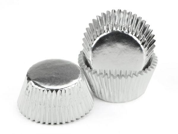 Muffinförmchen Alu silber 60 Stk