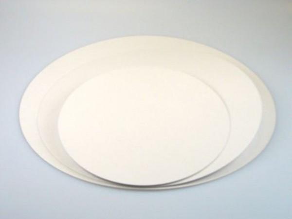 Cake Card beschichtet weiß Rund 24cm 5er Set