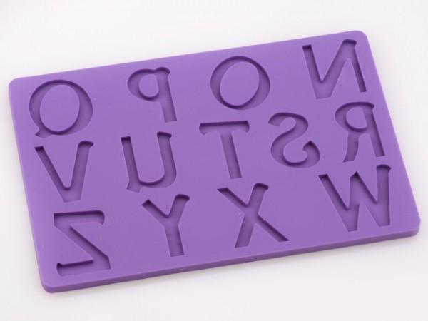 Buchstaben groß N-Z Silikonform