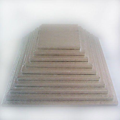 Kuchenplatte 12mm Quadratisch 25cm