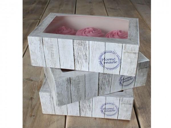 Cupcake Box 24x16x8 cm 3Stück