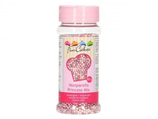 Zuckerperlen Nonpareils - Prinzessinnenmix 80g
