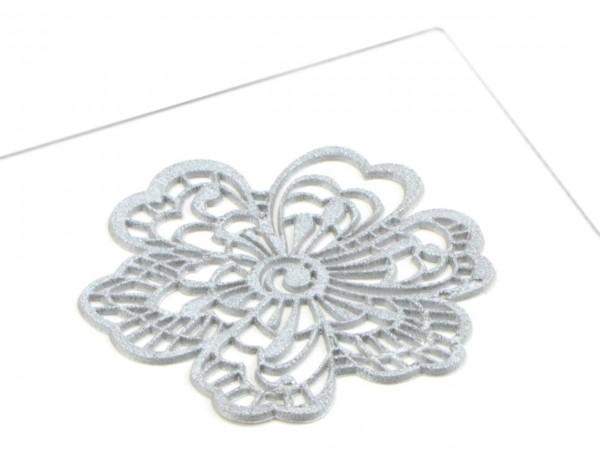 Spitzendekor Flower silber