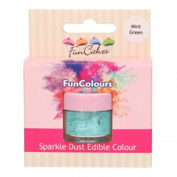 FunCakes Edible FunColours Sparkle Dust - Mint Green