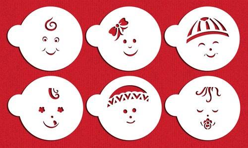 Desinger Stencils - Baby Faces