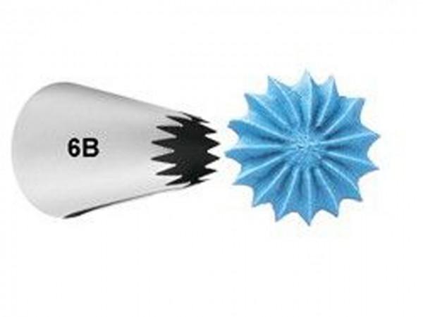 Garniertülle Nr.6B Open Star Carded