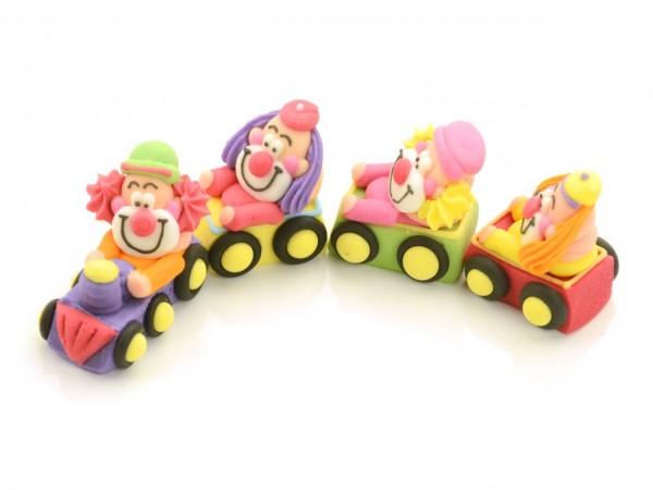Zuckerdekor Clowns im Zug