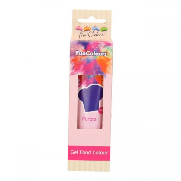 FunCakes Edible FunColours Gel - Purple 30g_1