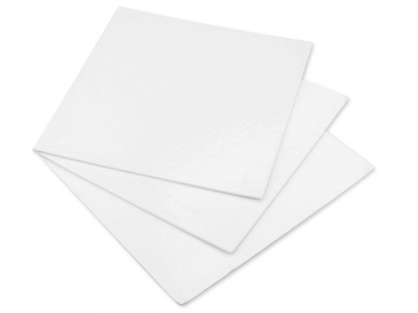 Cake Card Weiß Quadrat 20 cm, 3 Stück