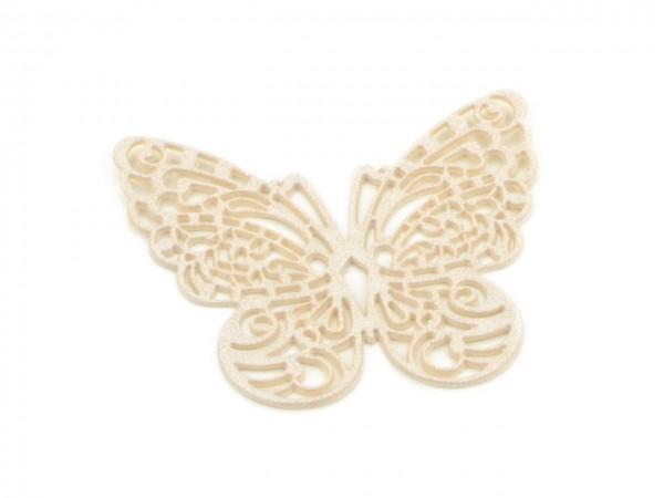 Spitzendekor Schmetterling pearl white