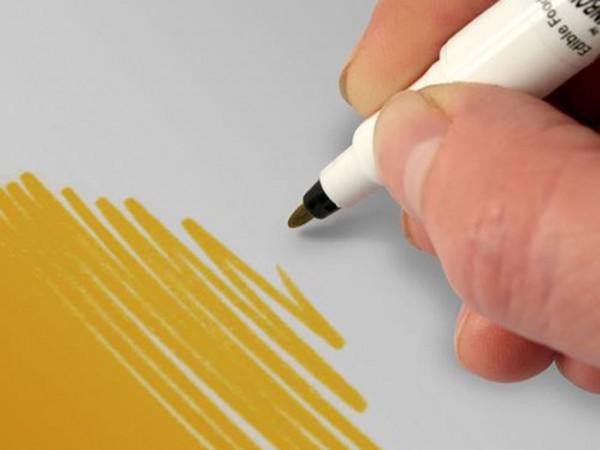 Food Art Pen Dunkelgold Rainbow Dust