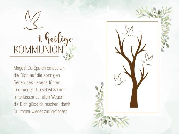 Tortenaufleger Erstkommunion Baum 20x30cm