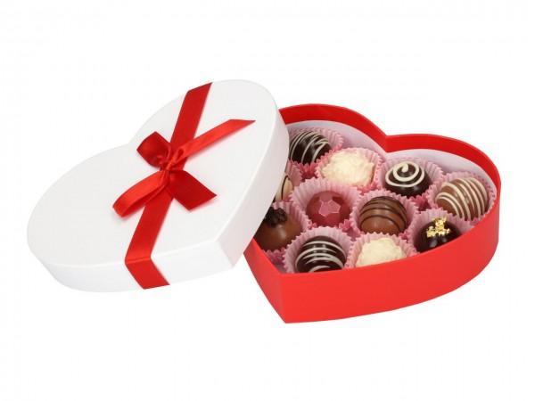 Chocolate Case für 11Pralinen Herz