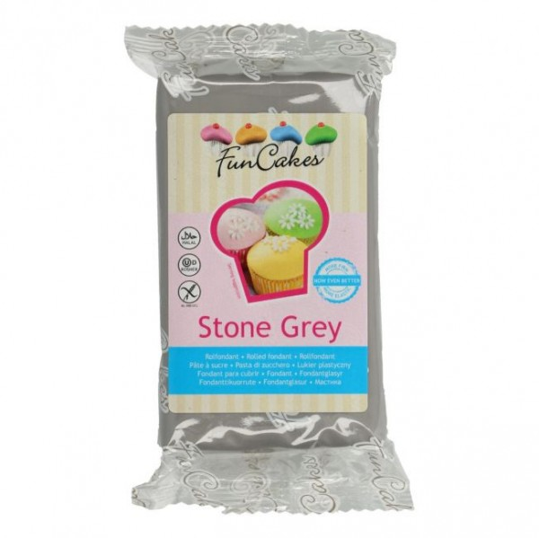 FunCakes Rollfondant Stone Grey 250gr