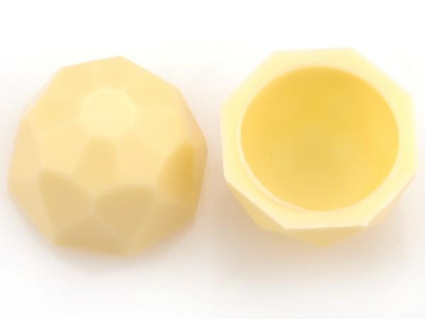 Diamanten-Schalen Hohlkörper Weiß - Folie je 63 Stück