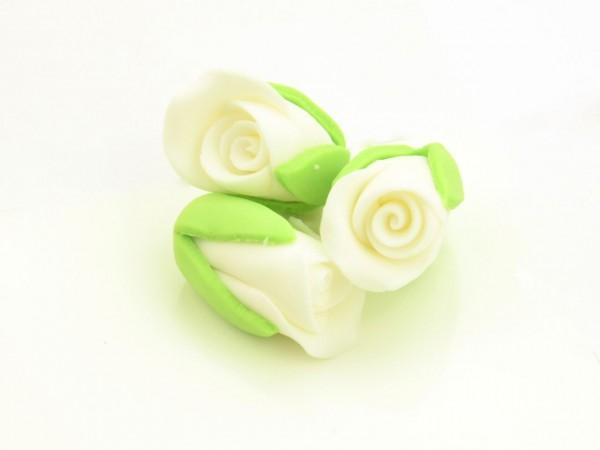 Zucker-Rosenknospen weiß 3 Stk