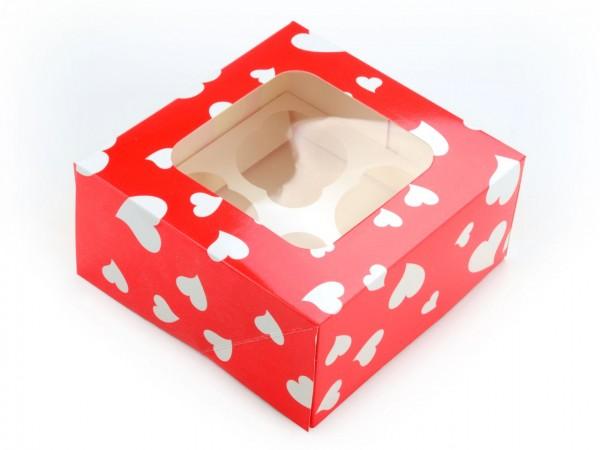 "Cupcake Box ""Herzen"" 2er Set"