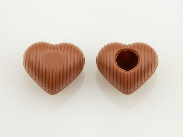 Mini Herz Hohlkörper Vollmilch - Folie je 63 Stück