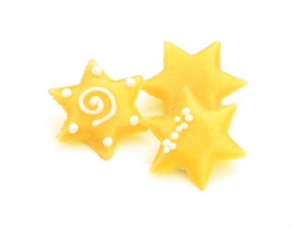 Dekoraufleger Marzipan Sterne 10Stck