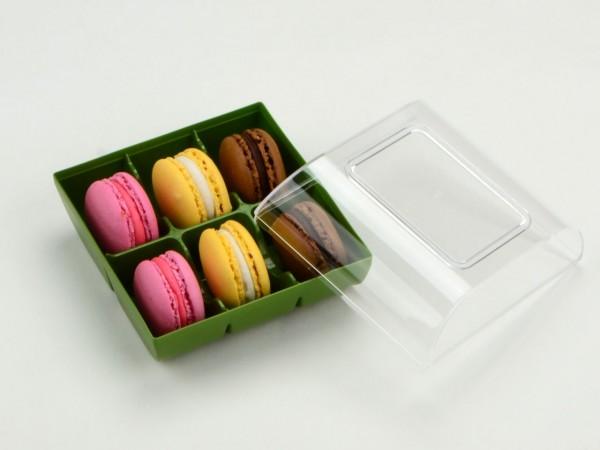 Macaron Verpackung Grün 6er