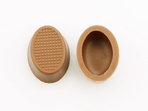 Oval-Schalen Hohlkörper Vollmilch - Folie je 63 Stück