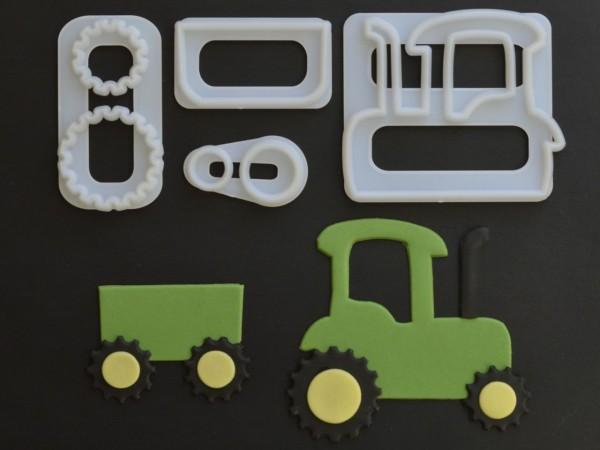 Traktor Ausstecher-Set