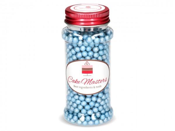 Weiche Zuckerperlen blau glimmer 60g