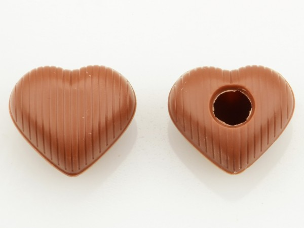 Medium Herz Hohlkörper Vollmilch - Folie je 54 Stück