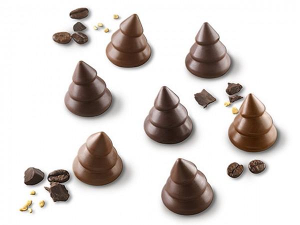 Schokoladenform Choco Trees Silikonform