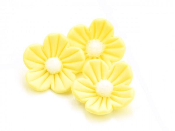 Zuckerdekor Blumen gelb 16Stk 25mm