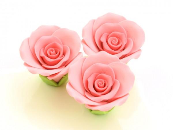 Zucker Rosen rosa 35mm 3 Stk