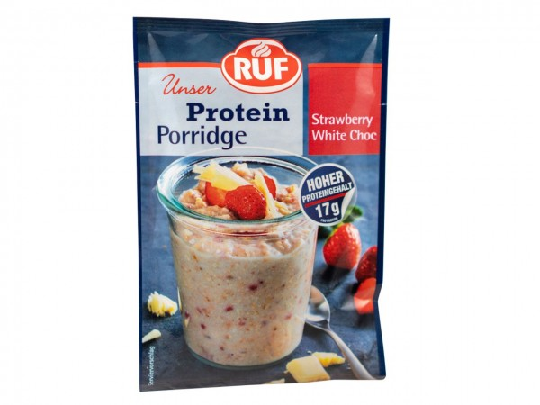 Protein Porridge Strawberry White Chocolate 70g