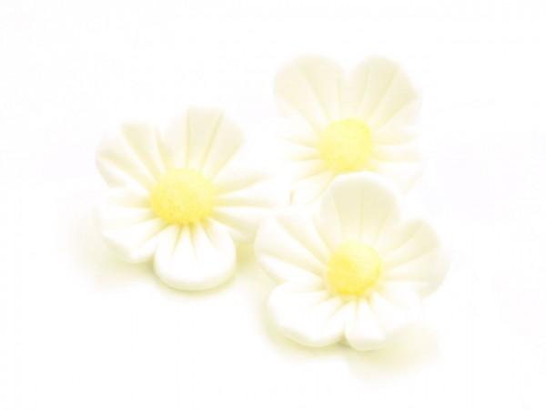 Zuckerdekor Blumen weiß16 Stk 25mm