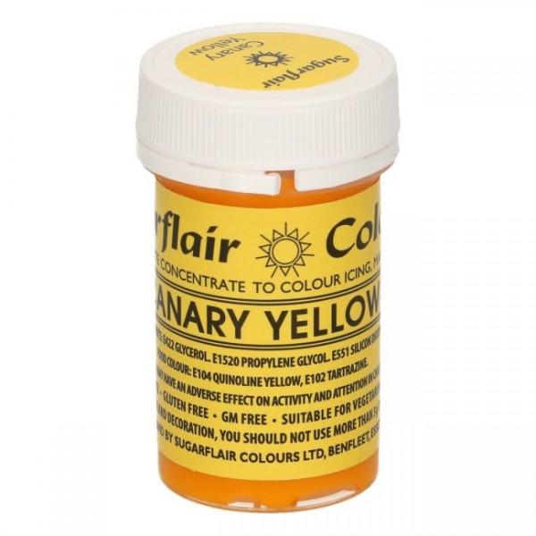 Sugarflair - Pastenfarbe Canary Yellow 25g
