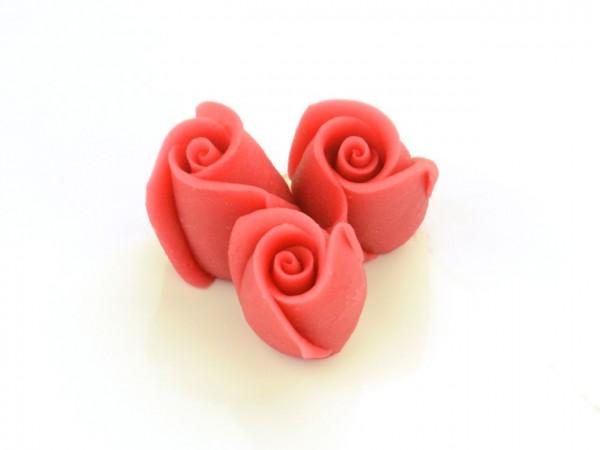 Marzipan-Rosen klein rot 4 Stk