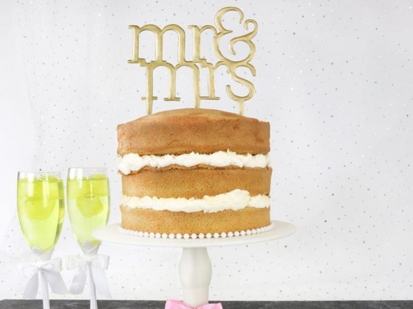 Mr & Mrs Ausstecher - Modern Cake Topper