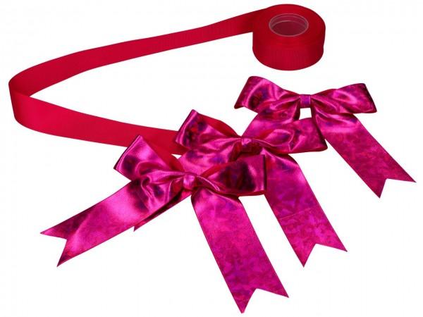 Schleifenset pink für Tortenkartons