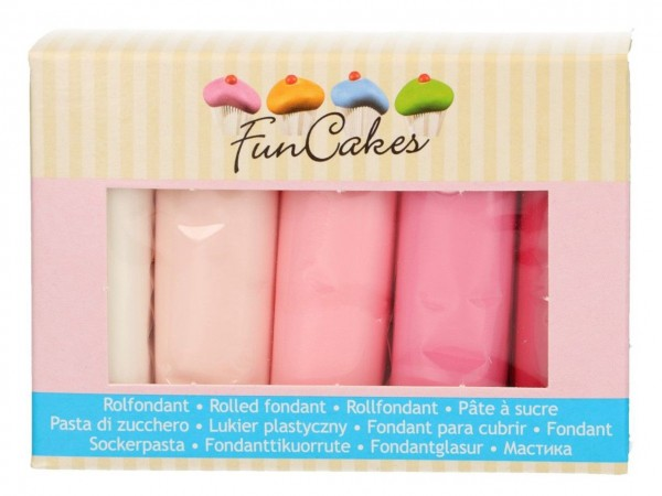 Multipack Fondant Rosatöne FunCakes 5x100g