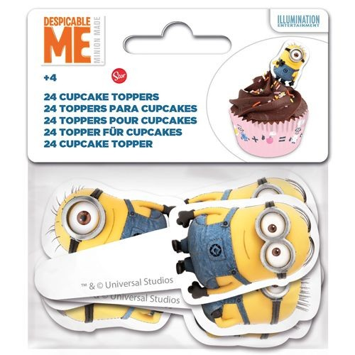 Cupcake Topper Minions 24 Stk