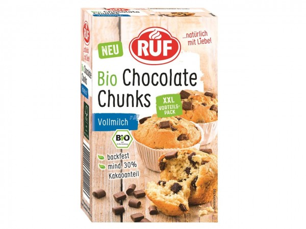 Bio Chocolate Chunks Vollmilch 175g